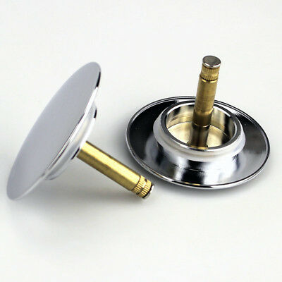 Adjustable Bath POP up C//W Washer Waste Plug with Flat Seal in Chrome