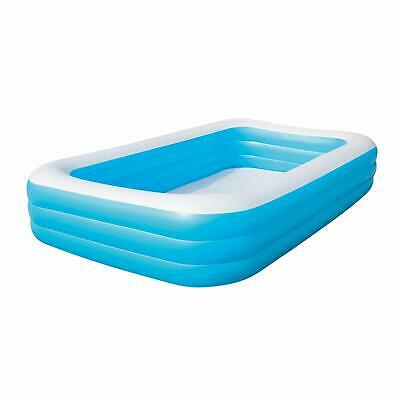 Bestway 10ft x 72in x 22in Deluxe Family Swimming Paddling Pool Rectangular