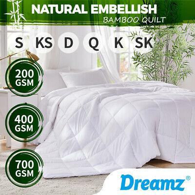 Dreamz All Size Microfiber Microfibre Bamboo Winter Summer Quilt Duvet Doona New
