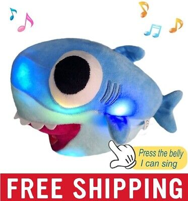 Soft Baby Shark Plush LED Singing Plush Toys Music Doll English Song Gift Kids