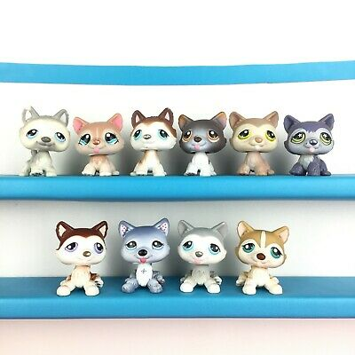 Lot 10 Littlest Pet Shop 69 1012 68 174 358 386 70 1617 427 487 Husky Dog LPS