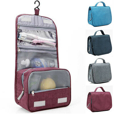 Travel Portable Cosmetic Storage MakeUp Bag Hanging Organizer Toiletry Pouch AU