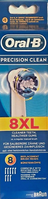 Braun Oral-B PRECISION CLEAN Tooth Brush Heads 8 Pack. NEW GENUINE SEALED (SALE)