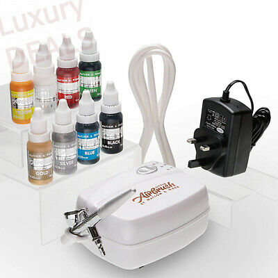 Airbrush Cake Decorating Kit Watson & Webb Little Airbrush LA1 Including 8 Color