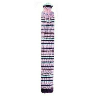 Warmies Extra Long Hot Water Bottle Purple Stripes Knitted 80cm PVC Quick & Easy