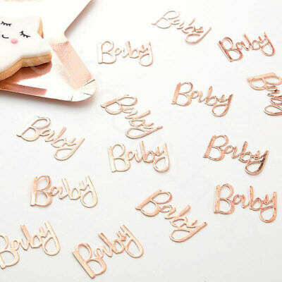 Rose Gold Oh Baby Table Confetti Scatter Unisex Baby Shower Party Decoration