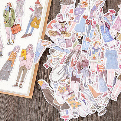 100Pcs/pack lovely girls stickers scrapbook DIY diary albums notebook decor ^S