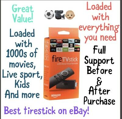Amazon Firestick With Kodi, Apptoide TV, Movies, Sports And More