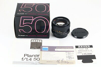 [AB- Exc] CONTAX Carl Zeiss Planar 50mm f/1.4 T* AEJ Lens in Box From JAPAN 5390
