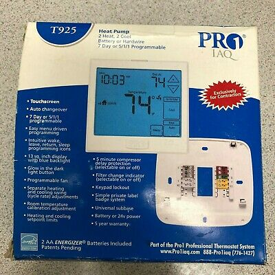 PRO1 IAQ T955 Touchscreen 3 Hot//2 Cold 7 Day Thermostat with 13-Inch Screen