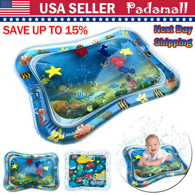 Inflatable Baby Water Mat Play Fun for Kids Children Infants Best Tummy Time USA