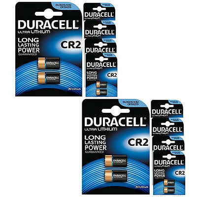 20 x DURACELL CR2 BATTERY ULTRA LITHIUM CR17355 DLCR2 EL1CR2 LONG LASTING