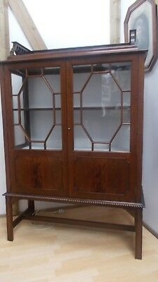 Antique Mahogany Edwardian Vitrine Display Cabinet Marsh Jones Cribb Leeds