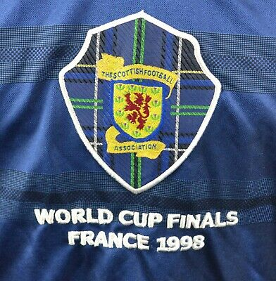 Score Draw Retro Vintage Style M Scotland Home Football Shirt France 98 1998