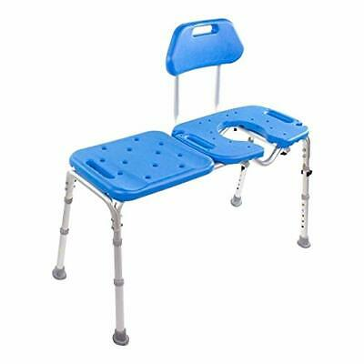 Bath Transfer Bench with Cutout, Deluxe All-Access for Tub and Shower