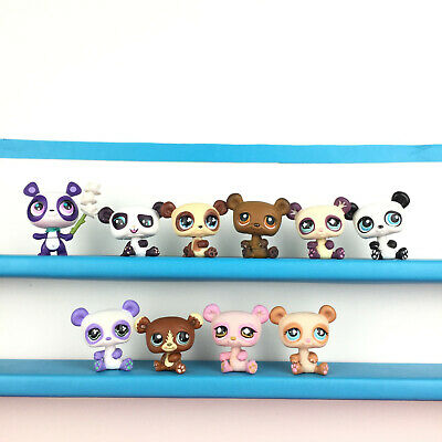 Authentic 10 Littlest Petshop Lot Panda Hasbro LPS Set / Pet Shop