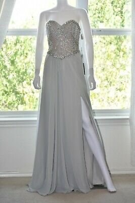 bb051be00a Glamour By Terani Couture Strapless Beaded Corset Bodice Long Dress Size 2