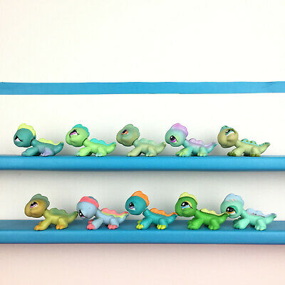 Authentic Lot 10 Littlest Pet Shop Iguana Lizard LPS Set / Iguane Lezard Petshop