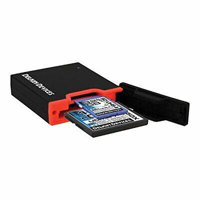 Delkin USB 3.0 Dual Slot SD UHS-II and CF Memory Card Reader - Black