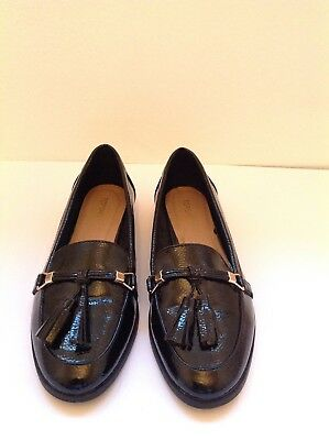 ff1a9065bf1 TOD S LADIES BLACK Patent Ballerinas Flats Loafers Size 39 Or 6 ...
