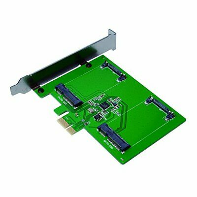 LogiLink PC0078 PCI Express Card with 2 x mSATA Solid State Drive