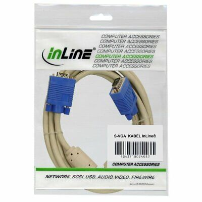 InLine S-VGA cable, InLine, beige, 15HD MF, 0.3m