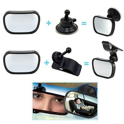 Baby Car Seat Rear View Mirror Facing Back Infant Kids Toddler Ward Safety DD