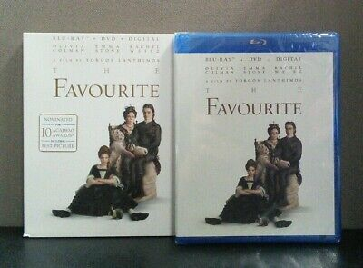 The Favourite    (Blu-ray + DVD + Digital w/Slipcover)    BRAND NEW