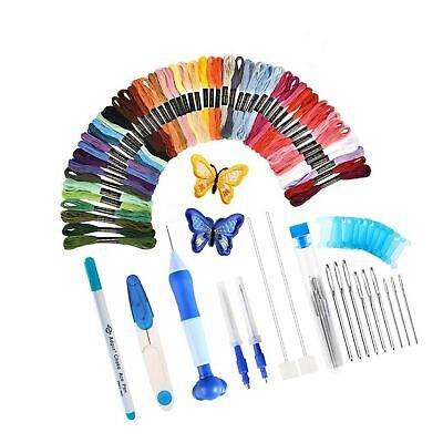 [Latest Model] Magic Embroidery Pen Set,Embroidery Pen Punch Needle Kit Craft...