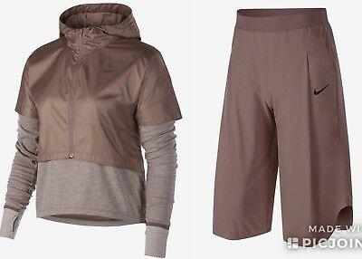 Nike Therma Long-Sleeve Running Top And Bottoms Set AQ9821-259 Size M RRP £205