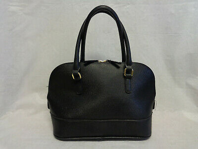 Preowned Merona Target Black Faux Non Leather Satchel Bag
