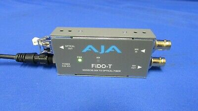 AJA Fido-T Single Channel SD/HD/3G To Optical Fiber Converter w/power supply