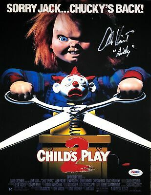 Alex Vincent autographed signed inscribed 11x14 Chucky Poster PSA Childs Play 2