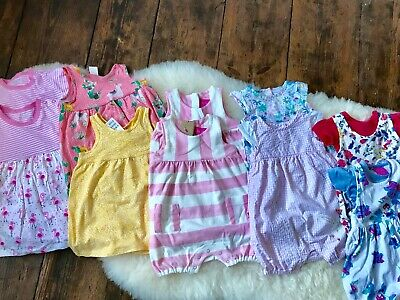 Beautiful Twins bundle Baby Girls Summer Dresses & Rompers & hats 3-6 months