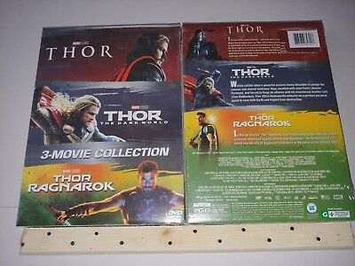 THOR 3-Movie Collection [DVD Box Set] 1-3 Complete Trilogy Boxset Free Shipping