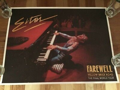 Elton John Farewell Tour Concert Poster VIP TICKET HOLDER LIMITED EDITION RARE