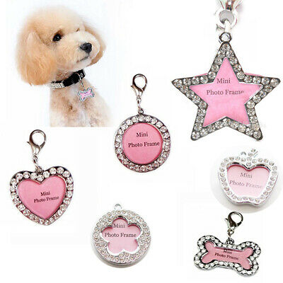 Handwriting Name ID Dog Cat Pet Tags Board Pendant Collar Crystal Personalized