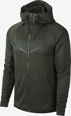 Nike Mens Windrunner Tech Icon Texture Full Zip Hoodie  L Black Casual Gym New