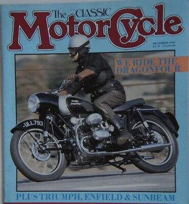 The Classic Motorcycle Dec 1990  TRIUMPH ,SUNBEAM ,DOUGLAS,COVENTRY EAGLE, ABC