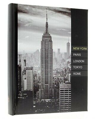"Large Black Slip In Photo Album Holds 300 6"" x 4"" Photos Memo New York NYC Gift"
