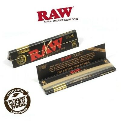 RAW Classic Black King Size Slim Rolling Papers UK Stock Brand New Original