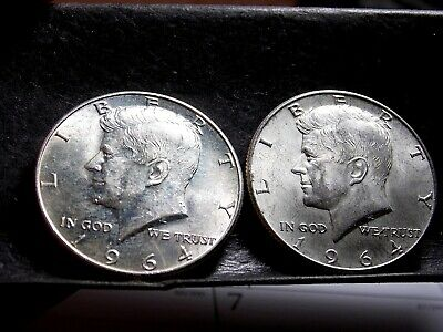 1964 Kennedy Half Dollars - Philadelphia and Denver Mints - 2 Half Dollars #5