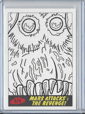 2017 Topps Mars Attacks The Revenge 1/1 Sketch Card by Bryan Abston - Bug