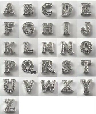 A - Z INITIALS , LETTERS , ALPHABET Charms for Floating Glass Memory Locket