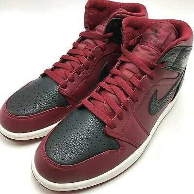 meet 62a72 8777f Nike Air Jordan 1 Mid Men s Basketball Shoes Team Red Black-White 554724-