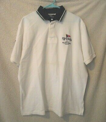 Polo By Ralph Lauren Mens Size XL Polo Rugby Shirt 'R.L Yacht Club 1967' EUC