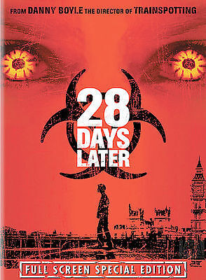 28 Days Later (Full Screen Edition), Excellent DVD, Christopher Dunne,Noah Huntl