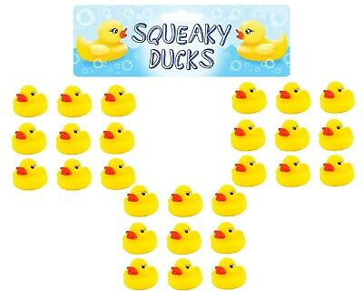 Bathtime Water Toys Pack Of 9 Squeaky Rubber Ducks Bath Duck Yellow Ducks 6cm