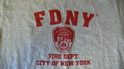 New FDNY FIRE DEPARTMENT NEW YORK CITY OFFICIALLY LICENSED MEDIUM GRAY T-SHIRT