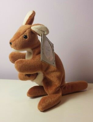 cbfcb2471f3 NWT POUCH the Kangaroo Ty Beanie Baby 4th Generation tush new with tag